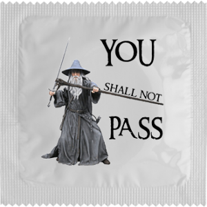Презерватив You shall not pass