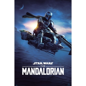 Постер The Mandalorian Mando Speeder Bike II
