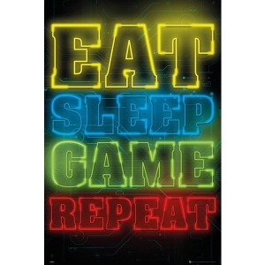 Постер Eat, Sleep, Game, Repeat