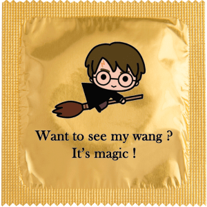 Презерватив Harry P. Want to see my wang?